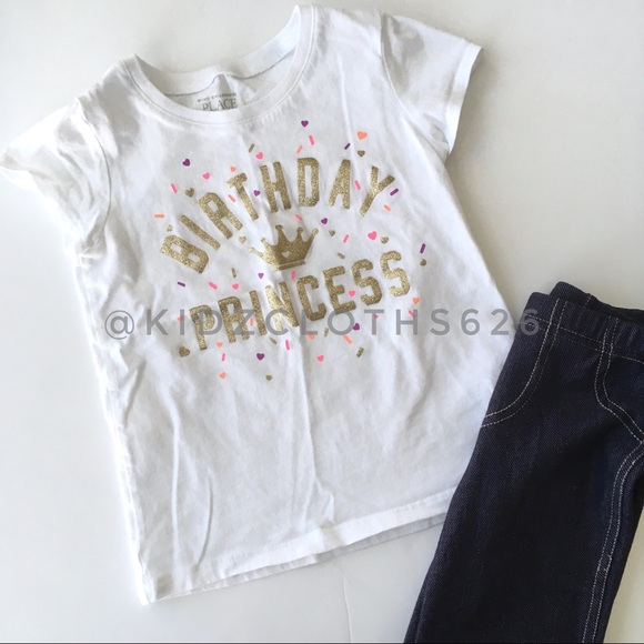 Childrens Place Birthday Princess Tee Shirt